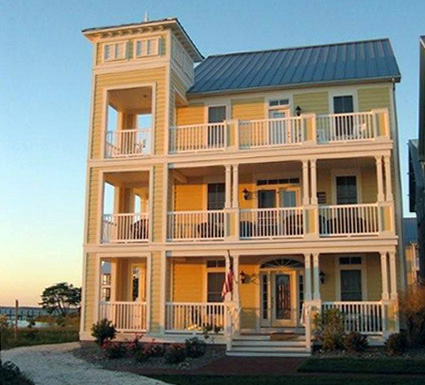 The cape hatteras single family home sunset island for Hatteras homes